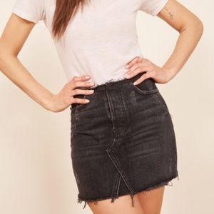 NWT Reformation Westin Skirt in Black